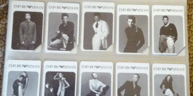 carte schede telefoniche emporio armani anni 90
