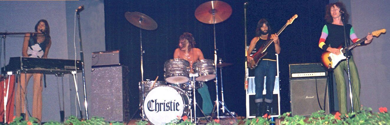 Christie playing in Sweden in the 1970s