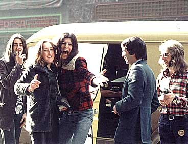 Snapshots-of-a-1974-Spanish-tour-taken-by-drummer-Terry-Fogg-Jeff-hams-it-up-with-a-lady-fan-as-Greg-Ainsworth-left.jpg