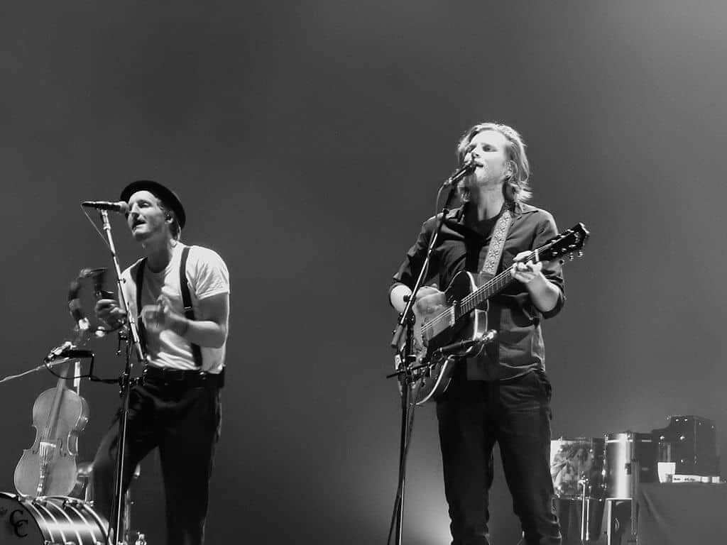 The Lumineers playing at the Brixton Academy in London, UK, in 2016, credit by Drew de F Fawkes