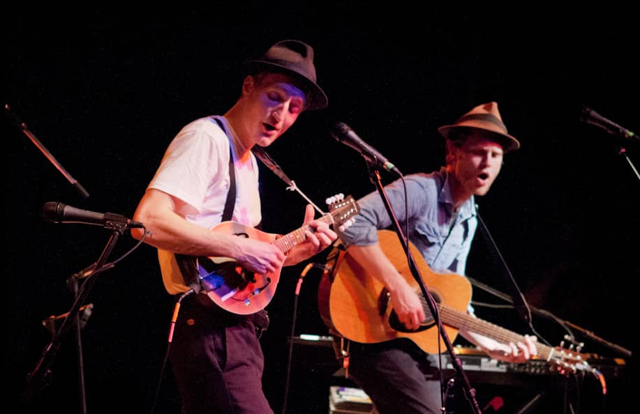 The Lumineers playing at the Fairfield Theatre Company StageOne in Fairfield, U.S., 2012, credit by Sachyn Mital