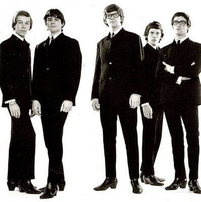 The Zombies British 1960 band black and white picture