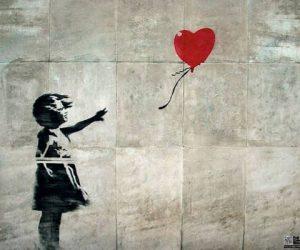 Bansky streetart baloon girl