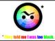 Funny color wheel cartoon