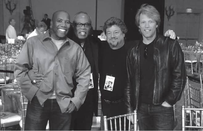 Danny Zelisko, Jon Bon Jovi, Sam Moore and Nathan East - © to the owners