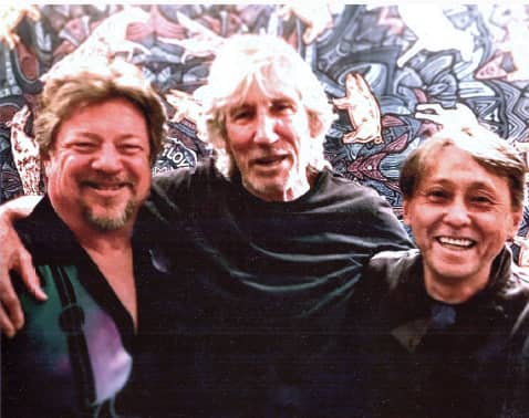 Danny Zelisko with Roger Waters and Nobuo Fukada in 2018 - © to the owners