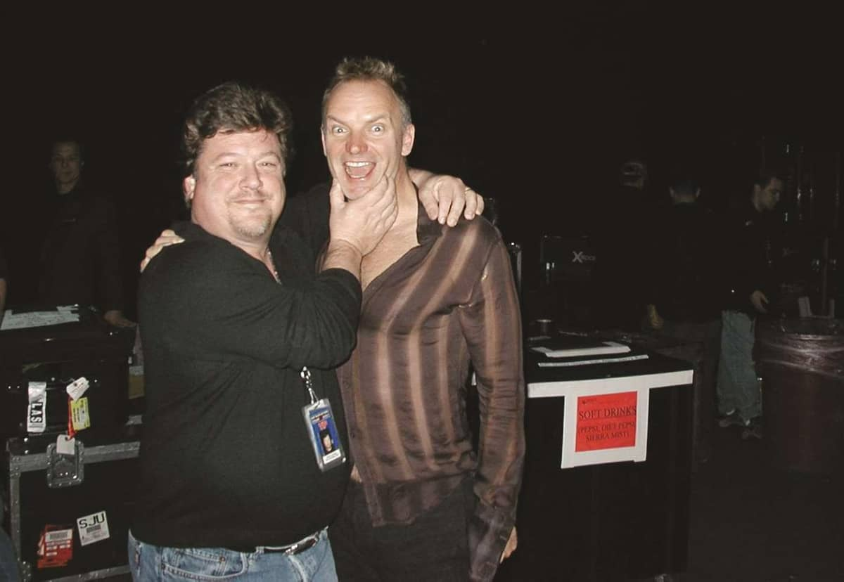 Danny Zelisko and Sting - © to the owners