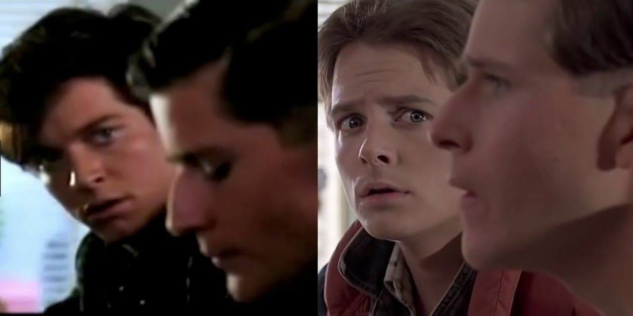 Eric Stoltz comparing to Micheal J. Fox in Back To The Future - © to the owners