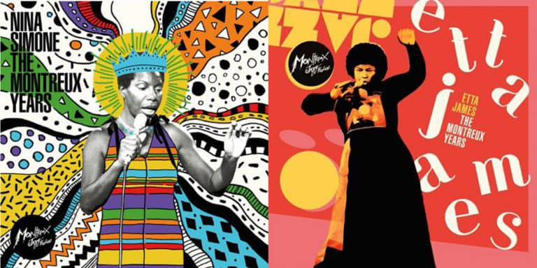 Etta James and Nina Simone The Montreaux Years, compilation cd covers