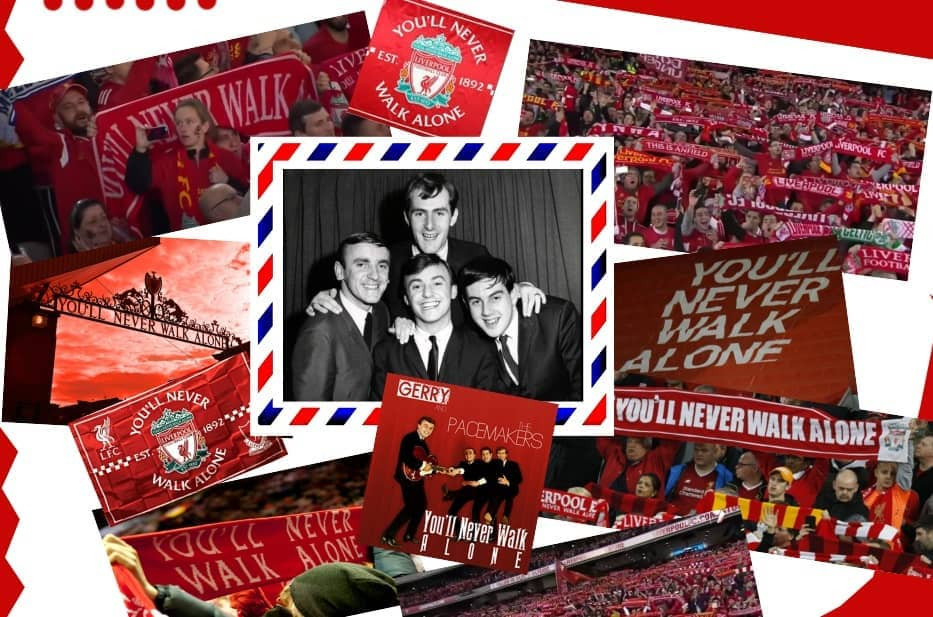 Gerry and the Peacemakers Liverpool You'll Never Walk Alone artwork red