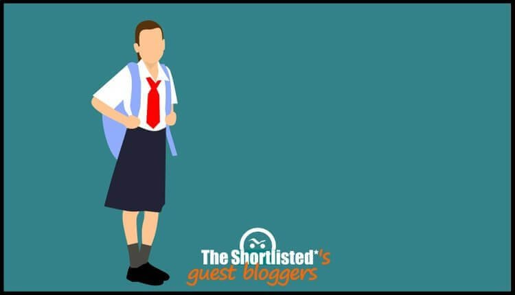 Girl in school uniform illustration cartoon