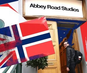 Hans Marius HM Johnsen at the Abbey Road Studios in London
