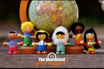 International multicultural little cute wooden dolls
