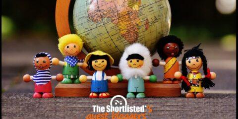 International multicultural little cute wooden dolls
