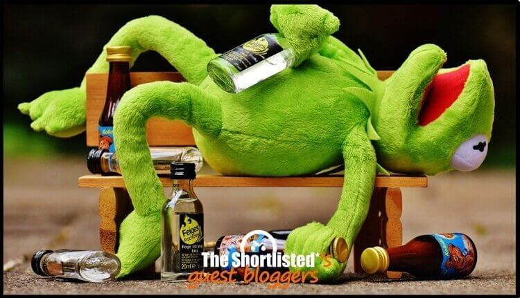 Kermit the frog drunk the Muppet