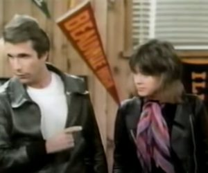 Leather Tuscadero (Suzi Quatro) & Fonzie in Happy Days © to the owners