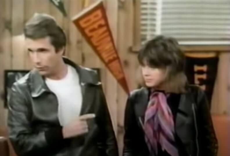 Leather Tuscadero (Suzi Quatro) & Fonzie in Happy Days © to the owners