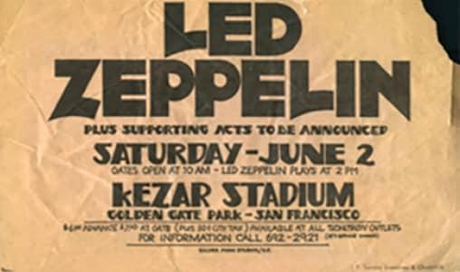 Led Zeppelin's concert leaflet