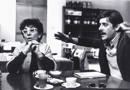 Lina Wertmüller and Giancarlo Giannini