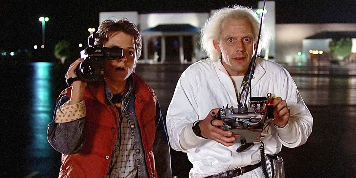 Christopher Lloyd and Michael J. Fox in Back To The Future - © to the owners