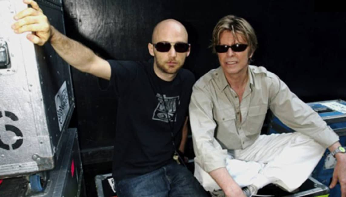 """Moby and David Bowie - Footage from Moby documentary """"Moby Doc"""" - copyright to the owners"""