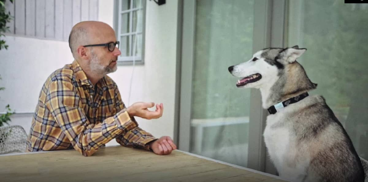 """Moby and the dog - Footage from Moby's documentary """"Moby Doc"""" - © to the owners"""