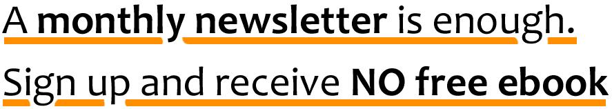 Monthly newsletter magazine