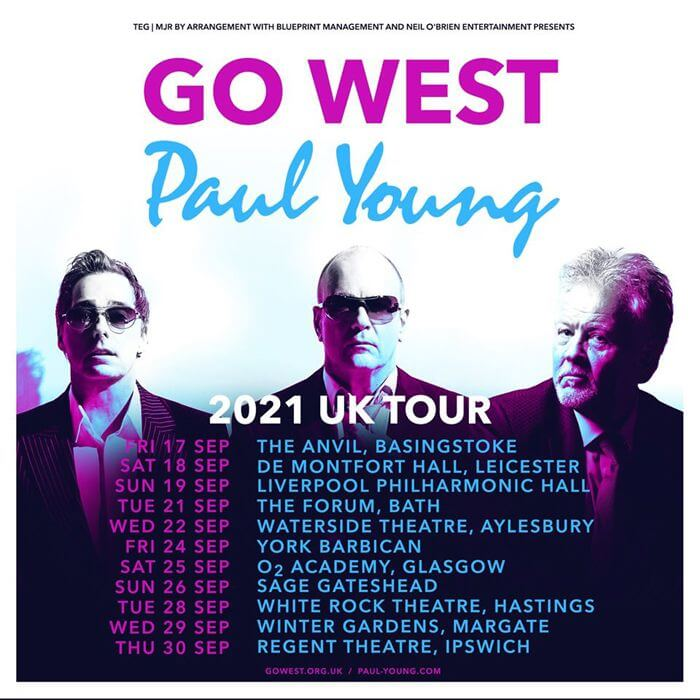 Paul Young and Go West UK Tour