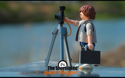 Playmobil Lego photographer with photography machine