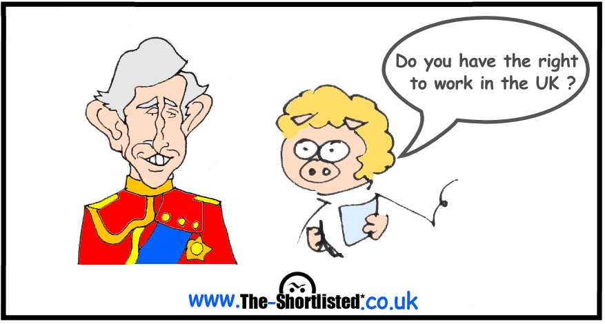 Prince Charles job interview funny caricature cartoon