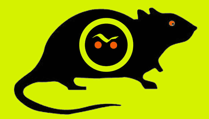 Rat mouse cartoon green and disgusting