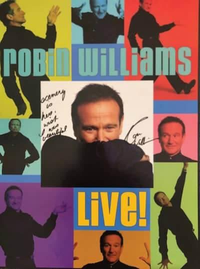 Robin Williams' live show leaflet