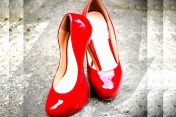 Red shoes stiletto shoes fashion for women