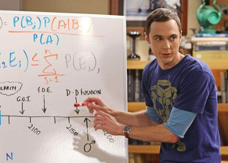 sheldon cooper big bang theory board