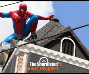 Spider man on the roof