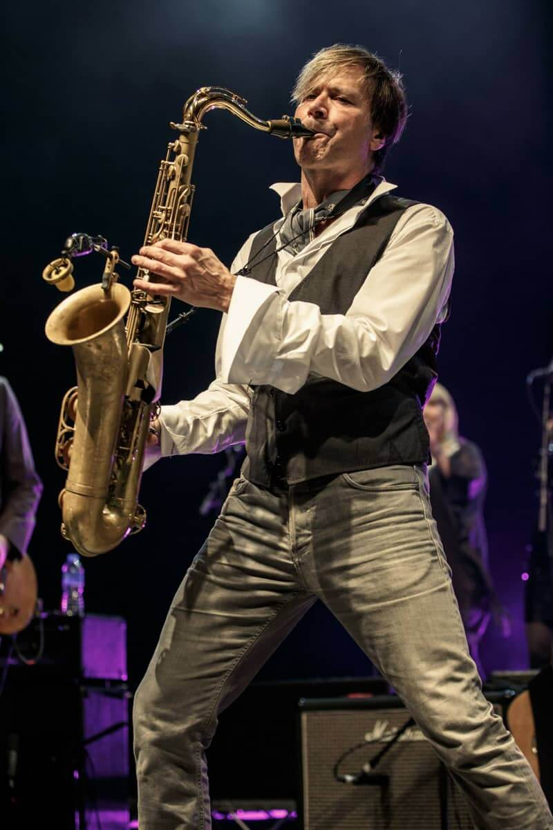 Steve Norman Spandau Ballet playing the saxophone, copyright and credits to Chris Youd