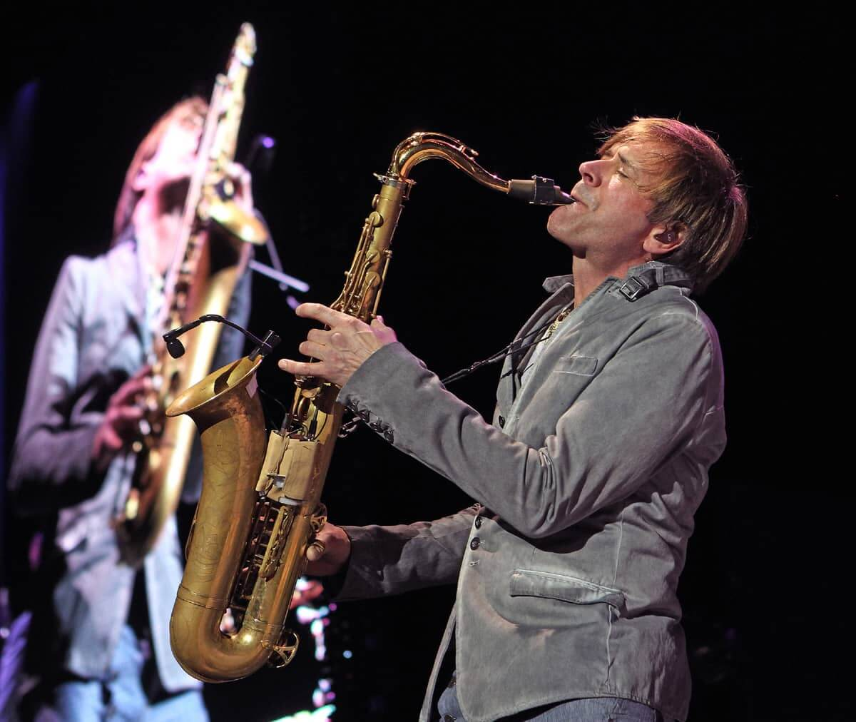 Steve Norman Spandau Ballet playing the saxophone, copyright and credits to Marilyn Kingwill