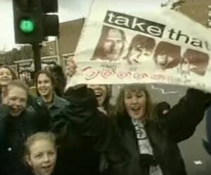 Take That screaming teenage girl fans in London by the Kino Library1990