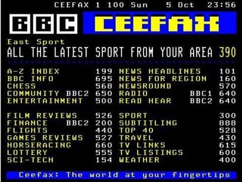 Televideo BBC Sport