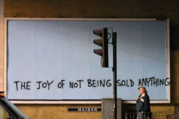 The joy of not being sold anything by Banksy