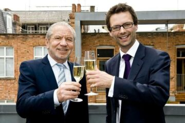 Tom Pellereau Apprentice winner and Lord Sugar