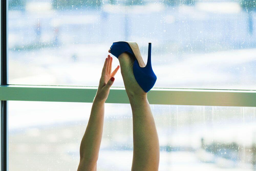 blue high heel by Veronica Benini La Spora