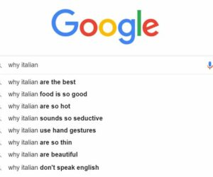 Why are Italians Google search screenshot
