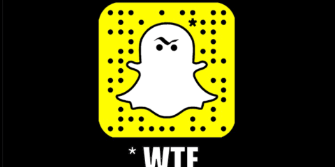WTF cartoon with Snapchat ghost